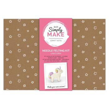 Needle Felting Kit - Simply Make - Unicorn