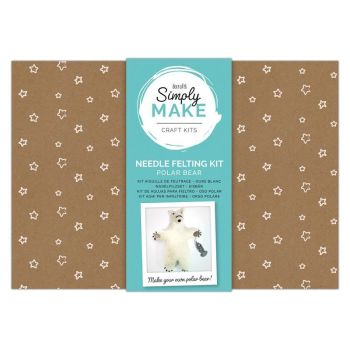 Needle Felting Kit - Simply Make - Polar Bear