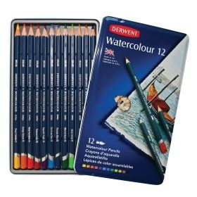 Derwent Watercolour Pencil 12 Tin