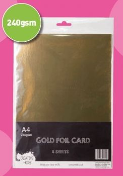 A4 240gsm Foil Card Gold Sheets Creative House