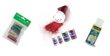 Decorative Glitter Red 113G