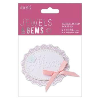 Do-crafts Embellished Topper - Mum (Pearls)