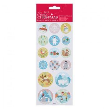 Foil Stickers - Pastel Christmas