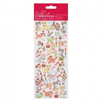 Glitter Stickers - Christmas Cats