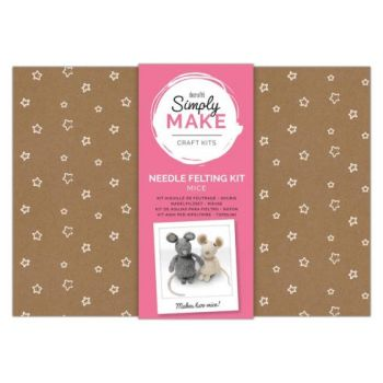 Needle Felting Kit - Simply Make - Mice
