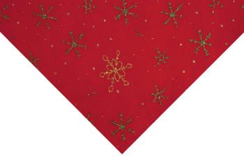 Glitter Snowflakes Red Felt 23 x 30cm