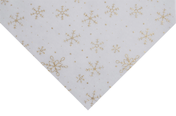 Glitter Snowflakes Silver on white Felt 23 x 30cm