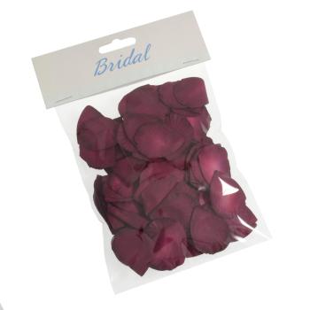 Paper Rose Petals Burgundy