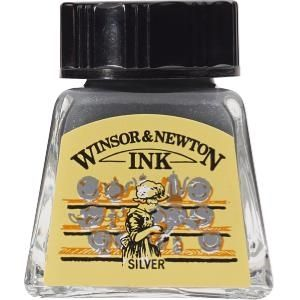 Winsor and Newton Drawing Ink 14ml Silver