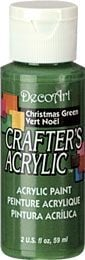 Deco Art Christmas Green 59ml Crafters Acrylic