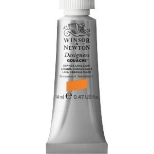Winsor and Newton Designers Gouache 14ml - Orange Lake Light