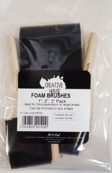 "Creative House Foam Brush Set of 3 - 1"",2"",3"""