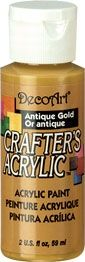 Deco Art Antique Gold 59ml Crafters Acrylic