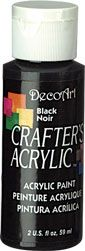 Black - Deco Art 59ml Crafters Acrylic -