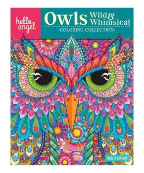 Hello Angel Owls Wild & Whimsical Colouring Collection