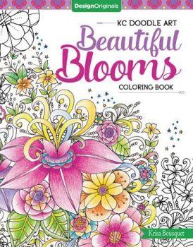 KC Doodle Art Beautiful Blooms Coloring Book