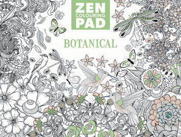 Zen Colouring Pad - Botanical