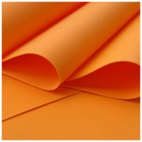 Orange Foamiran - Flower making foam (small sheet 30 x 35cm)