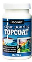 Clear Pouring Topcoat 8oz DecoArt