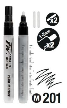 1-2mm Round Nibs Marker set FW x2 Daler Rowney