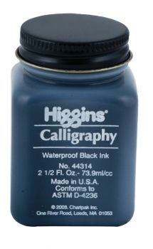 Higgins Calligraphy Waterproof 74ml Black Ink