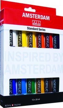 Set 12 x 20mL Amsterdam Acrylic Standard
