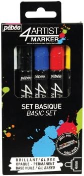 4ARTIST Marker Set Basic 5 x 4mm by Pebeo