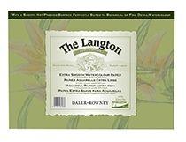 """Daler Rowney Langton Gummed Hot Pressed 10""""X 7"""" Pad"""
