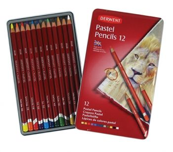 Derwent Pastel Pencils Tin of 12