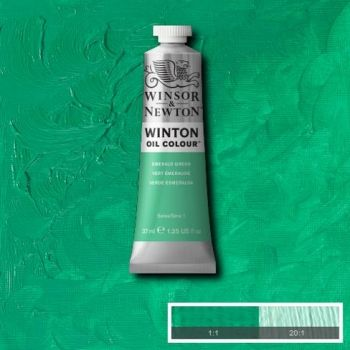 Winton Oil Colour - Emerald Green 37ml