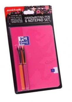 UNI Air Handwriting Pen and Notepad Set Pink A5