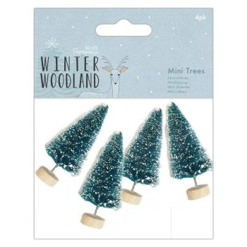 Papermania Winter Woodland Snow Tipped Mini Trees