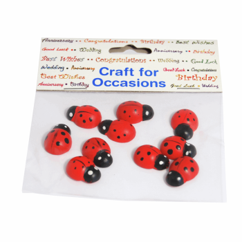 Craft Embellishments Ladybird Pack of 10