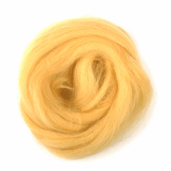 Trimits Natural Wool Roving 10g Yellow