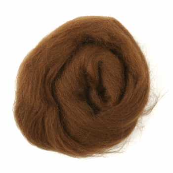 Trimits Natural Wool Roving 10g Coffee