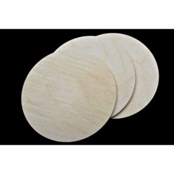 Birch Plaque 150mm - 6inch - Pack of 3