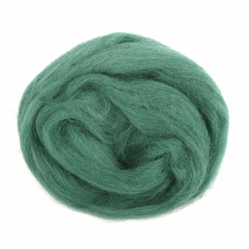 Trimits Natural Wool Roving 10g Grass Green