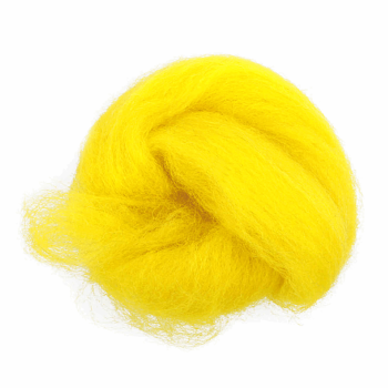 Trimits Felting Natural Wool Roving Bright Yellow 10g