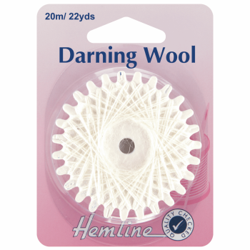 Darning Wool 20m White