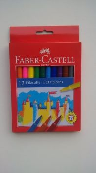 Faber Castell 12 Fibre Tipped Pens