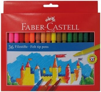 Faber Castell 36 Fibre Tipped Pens
