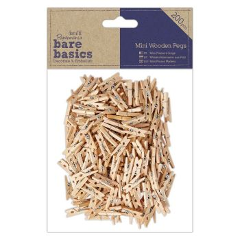 Mini Wooden Pegs (200pcs)