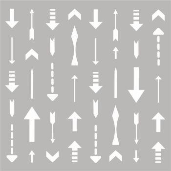 Arrows 6x6 stencil
