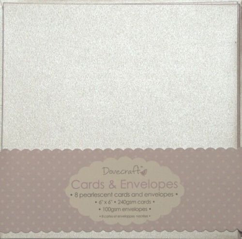 Dovecraft Pearlescent 6x6 Cards and Envelopes