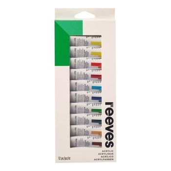 Reeves Acrylic Colour Tube Set (12 x 10ml SET)