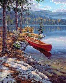 Reeves Time Well Spent Canoe Art Collection Medium