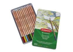 Academy Watercolour Pencils 12 Tin