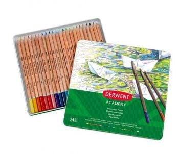 Academy Watercolour Pencils 24 Tin