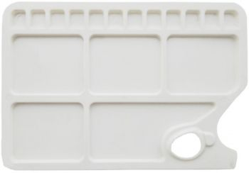 PLASTIC 17 WELL RECTANGULAR PALETTE LARGE 340mmx235mm