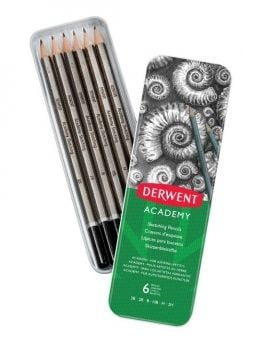 Academy Sketching Pencils 6 Tin (3BH)